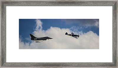 Typhoon V Spitfire Framed Print by Martin Newman