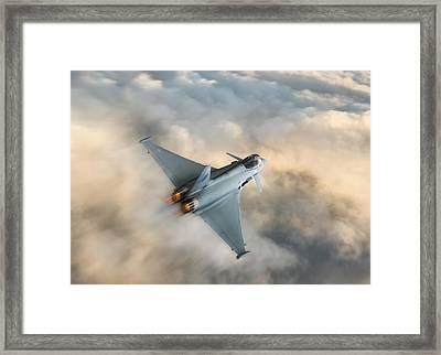 Typhoon Warning Framed Print by Peter Chilelli
