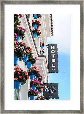 Typical Andalusian Hotel Framed Print by Tetyana Kokhanets