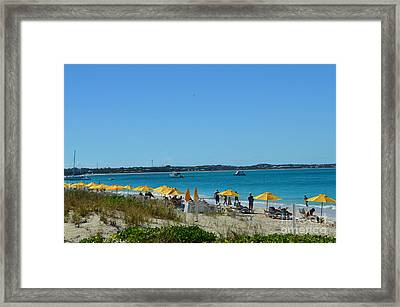 Typical Beach Day Framed Print by Judy Wolinsky