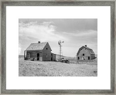 Typical Farm In Drought Area Framed Print