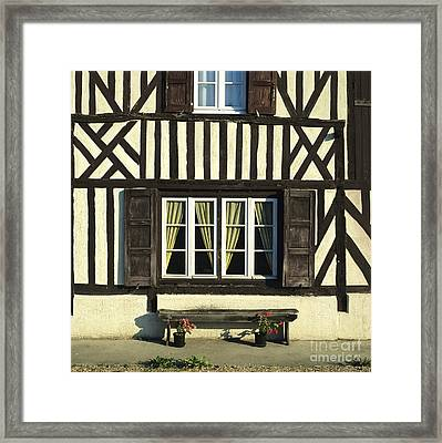 Typical House  Half-timbered In Normandy. France. Europe Framed Print by Bernard Jaubert