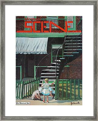 Typical Montreal Home Framed Print