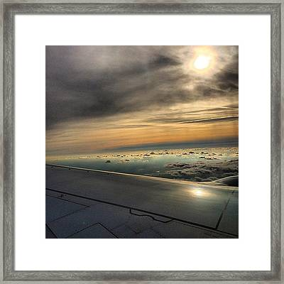 Typical On The Plane Picture #klm #ams Framed Print