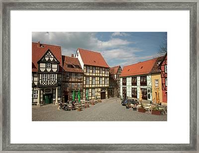 Typical Quedlinburg, Germany Old Town Framed Print by Dave Bartruff