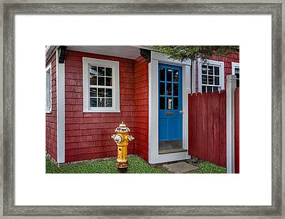 Typical Rockport Massachusetts Framed Print by Susan Candelario