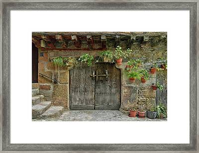 Typical Traditional Wooden Front Door Framed Print by Panoramic Images