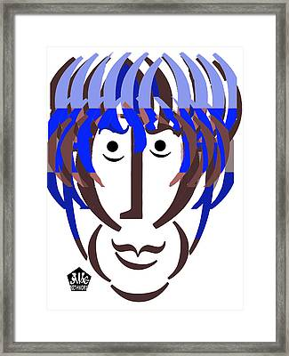 Typortraiture George Harrison Framed Print by Seth Weaver