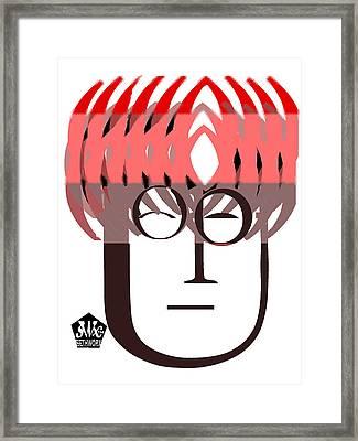 Typortraiture John Lennon Framed Print by Seth Weaver