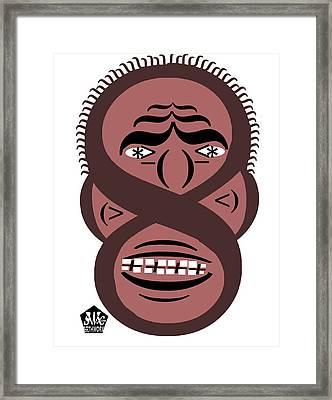 Typortraiture Obama Framed Print by Seth Weaver