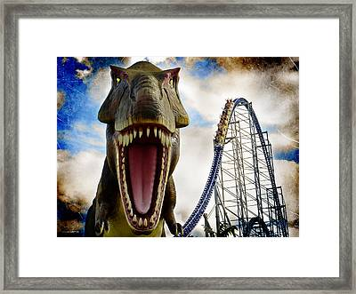 Tyranno-force Rex Framed Print by Shawna Rowe