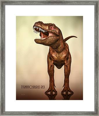Tyrannosaurus Rex 2 Framed Print by Bob Orsillo