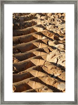 Framed Print featuring the photograph Tyre Art - Bulldozer Tyre Marks by Ramabhadran Thirupattur