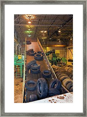 Tyre Recycling Facility Framed Print