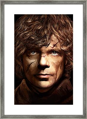 Tyrion Lannister - Peter Dinklage Game Of Thrones Artwork 2 Framed Print by Sheraz A