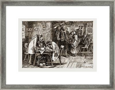 Tyrol, 1876 Anthropologists Or Anthropophagists Framed Print