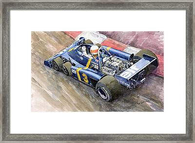 Tyrrell Ford Elf P34 F1 1976 Monaco Gp Jody Scheckter Framed Print by Yuriy  Shevchuk
