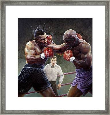 Tyson/holyfield Framed Print by Gregory Perillo
