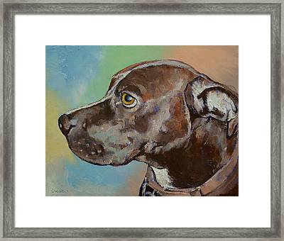 Tyson Framed Print by Michael Creese