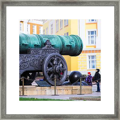 Tzar Cannon Of Moscow Kremlin - Square Framed Print