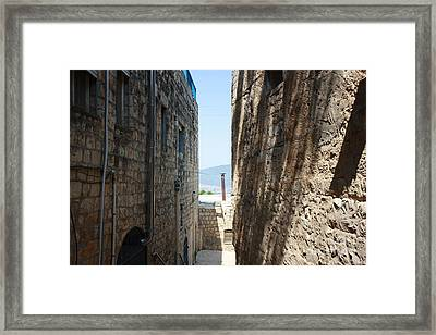 Framed Print featuring the photograph Tzfat Narrow Path by Julie Alison