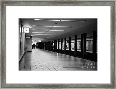 u-bahn platform and station Berlin Germany Framed Print by Joe Fox