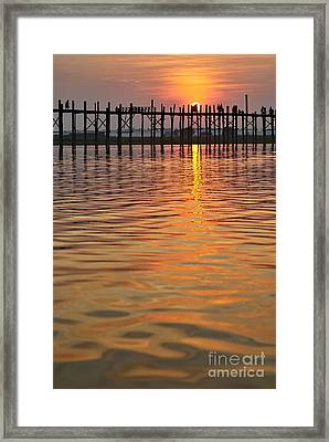 U Bein Bridge In Mandalay Framed Print by Juergen Ritterbach