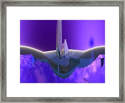 U-blu-2 Framed Print