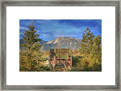 U - Haul Framed Print by Donna Kennedy