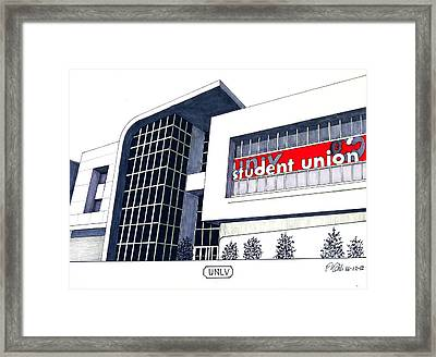 U N L V Framed Print