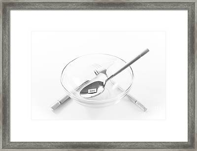 U R What U Eat- Love Framed Print