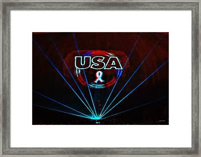 U S A Framed Print by George Bostian