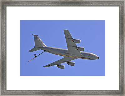 Framed Print featuring the photograph U S Air Force Flyover by DigiArt Diaries by Vicky B Fuller