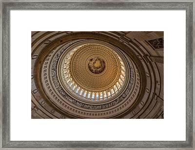 U S Capitol Rotunda Framed Print