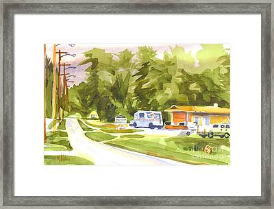 U S Mail Delivery Framed Print by Kip DeVore