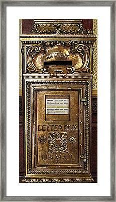 U S Mailbox Gilded Framed Print by Randall Weidner
