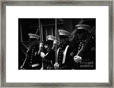 U. S. Marines - Monochrome Framed Print