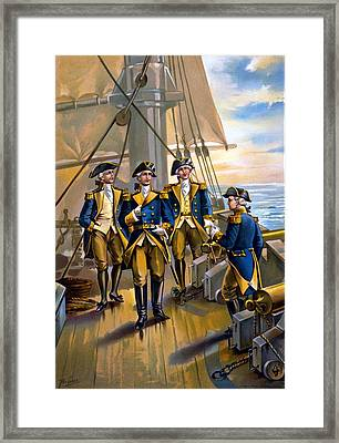 U S Navy Commander In Chief Of The Fleet Framed Print by The Werner Company