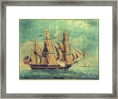 U S S Constitution 1803-1804 Framed Print by Mim White