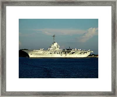 U S S Yorktown 2 Framed Print by Randall Weidner