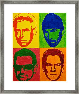 U2 Framed Print by Doran Connell