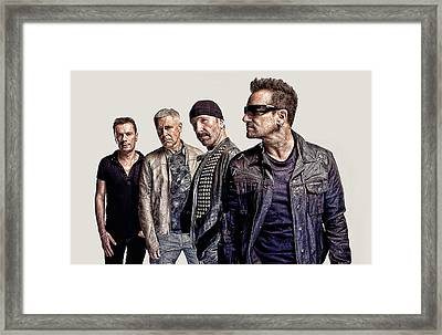 U2 Goup Framed Print by Galeria Zullian  Trompiz