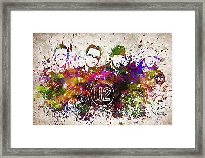 U2 In Color Framed Print by Aged Pixel