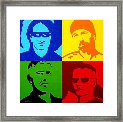 U2 Framed Print