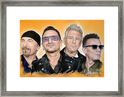 U2 Framed Print by Melanie D