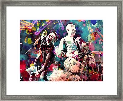 U2 Framed Print by Rosalina Atanasova