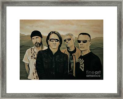 U2 Silver And Gold Framed Print