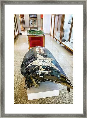 U2 Spy Plane Engine Wreck Framed Print by Peter J. Raymond
