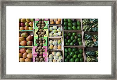 Uae, Abu Dhabi Close-up Of Various Framed Print by Jaynes Gallery