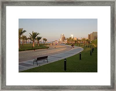Uae, Abu Dhabi Part Of The Walkway Framed Print by Jaynes Gallery
